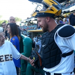 Chatting it up with catcher, john buck