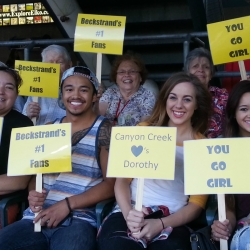 Some of canyon creeks staff and residents cheering for dorothy (1)